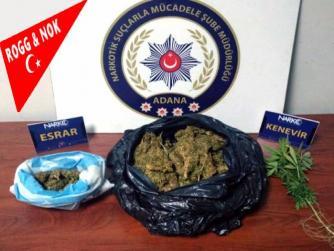 Adana'da uyuşturucu operasyonunda yakalanan iki şüpheli tutuklandı