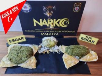 Malatya'da 3,5 kilo esrara 1 gözaltı 10.09.2021