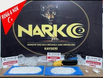 Kayseri'de uyuşturucu operasyonunda 3 kişi yakalandı 11.09.2021