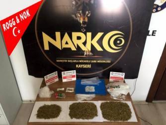 Kayseri'de narkotik operasyonu: İç çamaşırı, yastık ve araçtan uyuşturucu madde yakalandı 16.09.2021